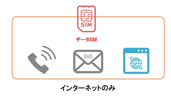 データSIMはインターネットのみ使える