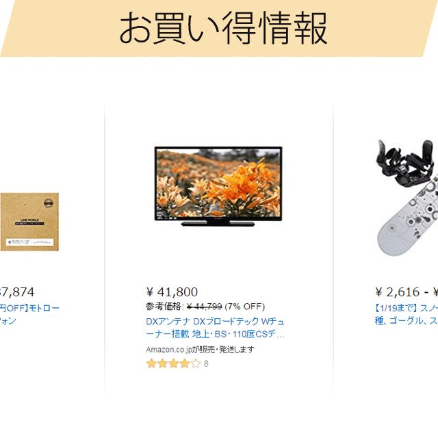 Amazon お買い得情報 説明図